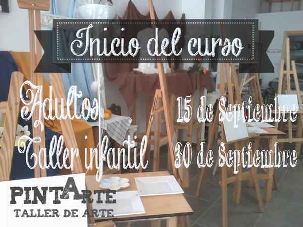 Información sobre inicio del curso en Academia Pintarte